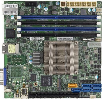 Мат. плата для ПК Supermicro MBD-X10SDV-F-O с процессором Intel 4xDDR4 1xPCI-E 16x 1xPCI-E 4x 6xSATAIII mini-ITX Retail