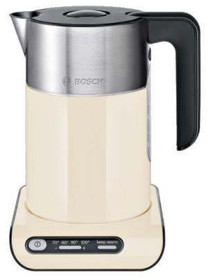 Чайник Bosch TWK 8617P 2400 Вт бежевый 1.5 л металл/пластик чайник bosch twk861p3ru 2400 вт 1 5 л металл пластик чёрный