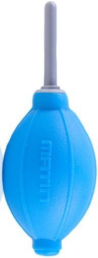 Груша воздушная Matin для очистки фотокамер от пыли, силиконовая, двухклапанная, синяя, HURRICANE BLOWER (SILICONE)   BLUE от 123.ru
