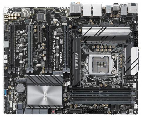 Материнская плата ASUS Z170-WS Socket 1151 Z170 4xDDR4 4xPCI-E 16x 1xPCI-E 4x 6 ATX Retail материнская плата пк asus x99 ws ipmi x99 ws ipmi
