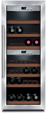 Винный шкаф CASO WineMaster 38 серебристый винный шкаф caso winemaster touch 38 2d черный