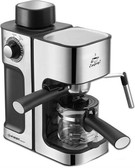 Кофеварка First FA-5475-2 черно-серебристый