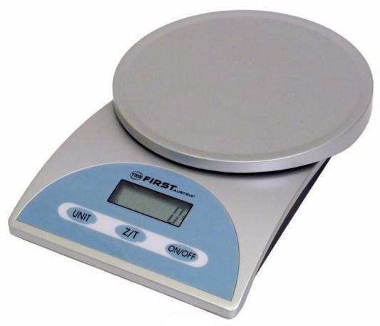 Весы кухонные First FA-6405 серебристый голубой