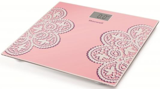 Весы напольные Maxwell MW-2672 PK розовый рисунок