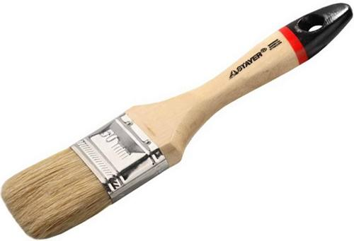 Кисть плоская Stayer UNIVERSAL-EURO натуральная щетина деревянная ручка 50мм 0102-050 кисть плоская hardy 50 мм натуральная щетина деревянная ручка