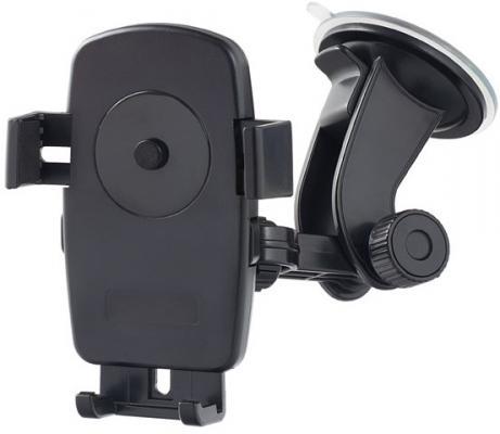 """все цены на Автомобильный держатель Perfeo PH-502-2 до 5"""" на стекло черный + оранжевый онлайн"""