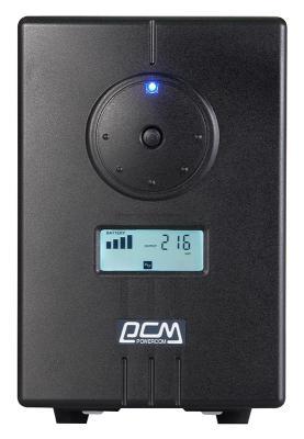 ИБП Powercom INF-800 480Вт 800ВА черный серьги колечки серьги спокойствие имитация малахита