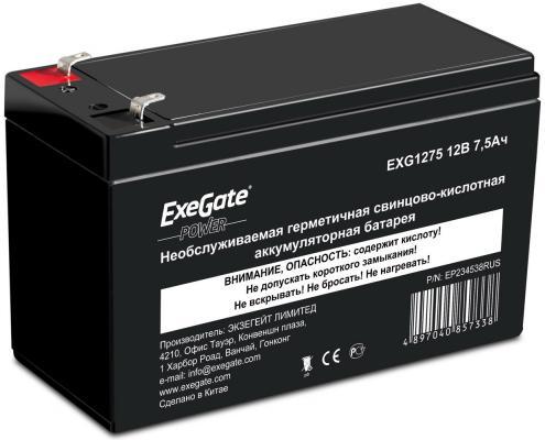 Батарея Exegate 12V 7.5Ah EXG1275