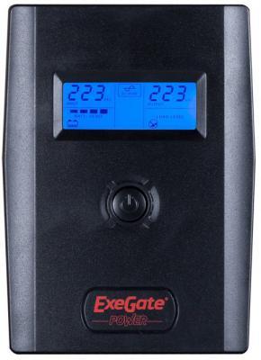 ИБП Exegate ULB-600 LCD 600VA Черный EP212515RUS