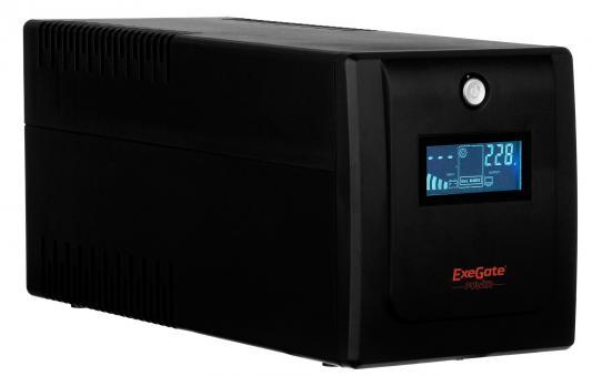 все цены на ИБП Exegate ULB-1000 LCD 600Вт 1000ВА черный EP212519RUS онлайн