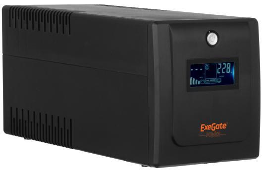 ИБП Exegate ULB-1500 LCD 900Вт 1500ВА черный EP212520RUS