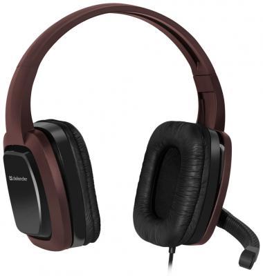Гарнитура Defender Warhead G-250 коричневый 64120 стоимость