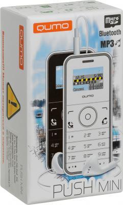 """Мобильный телефон QUMO Push Mini белый синий 1"""" 32 Мб"""