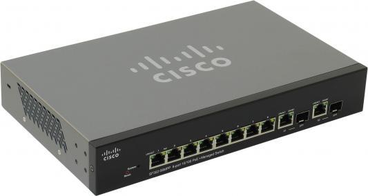 Коммутатор Cisco SF302-08MPP-K9-EU управляемый 8 портов 10/100Mbps PoE коммутатор hp e1910 8 poe управляемый 8 портов 10 100mbps poe jg537a