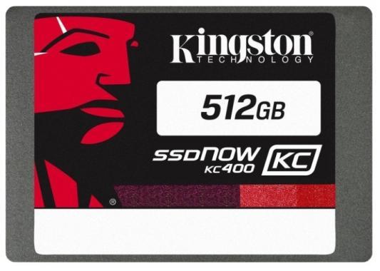 Твердотельный накопитель SSD 2.5 512 Gb Kingston SSDNow KC400 Read 550Mb/s Write 530Mb/s SATAIII SKC400S37/512G