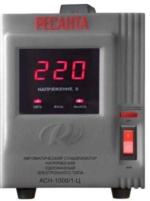 Стабилизатор напряжения Ресанта ACH-1000/1-Ц 1 розетка стабилизатор напряжения ресанта ach 30 000 3 ц