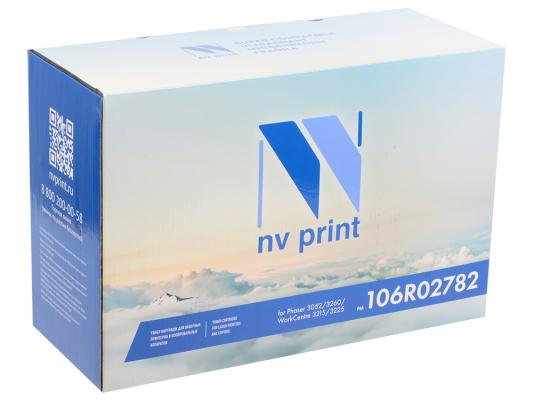 Картридж NV-Print 106R02782 для Xerox Phaser 3052/3260/WC 3215/3225 черный 6000стр картридж nv print 006r01278 для xerox wc 4118 8000k