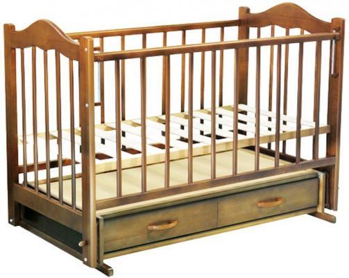 Кроватка с маятником Ведрус Кира 4 (орех) обычная кроватка ведрусс радуга 4 орех