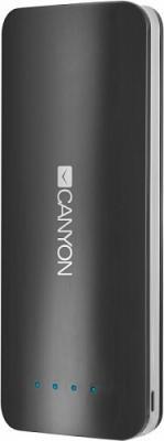 Портативное зарядное устройство Canyon CNE-CPB156DG 15600мАч серый портативное зарядное устройство canyon cne cpb130gz 13000мач гжель