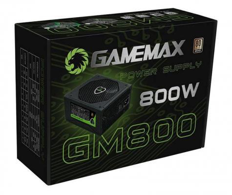 БП ATX 800 Вт GameMax GM-800 EX221641RUS блок питания atx 800 вт gamemax gm 800 ex221641rus