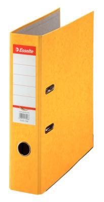 Папка-регистратор Esselte Rainbow А4 75мм картон желтый 17928P папка на 2 х кольцах galaxy а4 салатовая