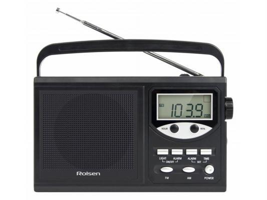 Часы с радиоприёмником Rolsen RBM-216BL