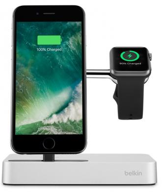 цена на Док-станция Belkin Charge Dock for Apple Watch + iPhone F8J183 F8J183VFSLV-APL