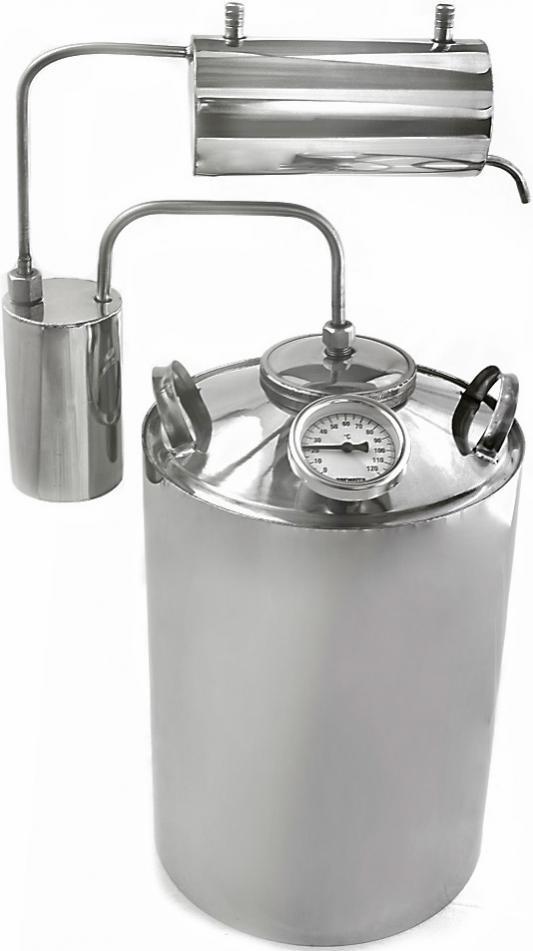 Дистиллятор «Магарыч» Премиум 12 БКДР (Объем перегонного куба: 12 л., Тип охладителя: проточный , Производительность: 1,2 л/ч, Термометр: есть , Сухоп дистиллятор чзбт магарыч 20л премиум т бк