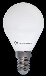 Лампа светодиодная шар Наносвет EcoLed L130 E14 6.5W 4000K