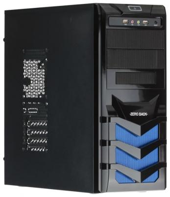 Корпус ATX Sun Pro Electronics H-302 Без БП чёрный синий