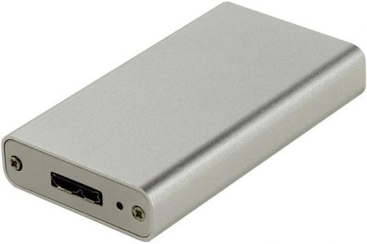 Внешний контейнер для SSD mSATA Espada PA6009U3 USB3.0 серебристый