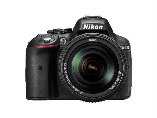 Зеркальная фотокамера Nikon D5300 KIT DX 18-55 VR AF-P 24.1Mp черный VBA370K007