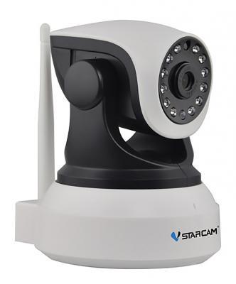 "Камера IP VStarcam C7824WIP CMOS 1/4"" 1280 x 720 H.264 RJ-45 LAN Wi-Fi черный белый"