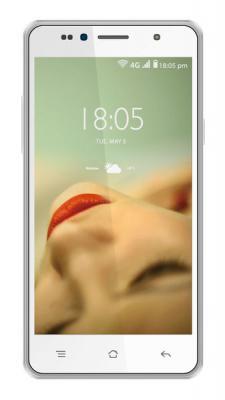 """Смартфон KREZ SM503W8 белый 5"""" 8 Гб Wi-Fi GPS 3G LTE"""