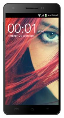"""Смартфон KREZ SL502B4 DUO 3G черный 5.5"""" 4 Гб Wi-Fi GPS 3G"""