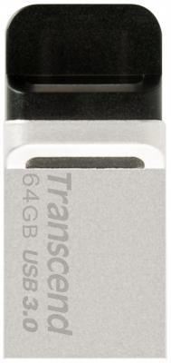 Флешка USB 64Gb Transcend JetFlash 880 TS64GJF880S серебристый флешка transcend jetflash v85 16gb