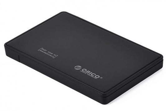 Внешний контейнер для HDD 2.5 SATA Orico 2588US3-BK USB3.0 черный внешний контейнер для hdd 2x3 5 sata orico 9528u3 usb3 0 серебристый