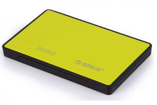 Внешний контейнер для HDD 2.5 SATA Orico 2588US3-OR USB3.0 желтый orico is331 mini ide to sata hdd adapter converter black