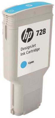 Картридж HP 728 F9K17A для DJ T730 голубой картридж hp 17 многоцветный [c6625a]