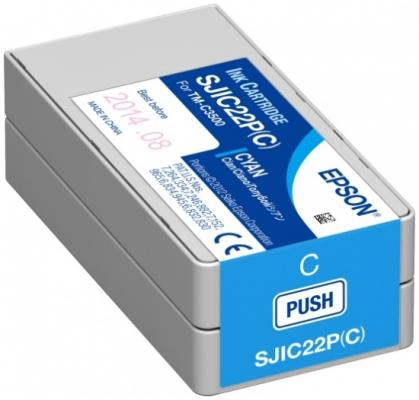 Картридж Epson C33S020602 для TM-C3500 голубой 1pcs c3400 compatible chip resetter suitable for epson tm c3400 printer chip resrt