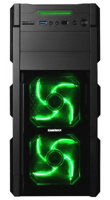 Корпус ATX GameMax G535-CR Без БП чёрный Blue LED