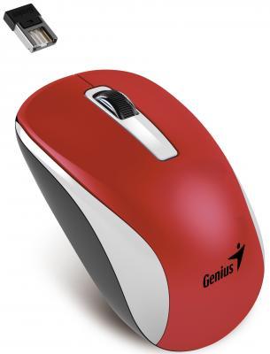 Мышь беспроводная Genius NX-7010 красный белый USB мышь genius nx 7010 magenta