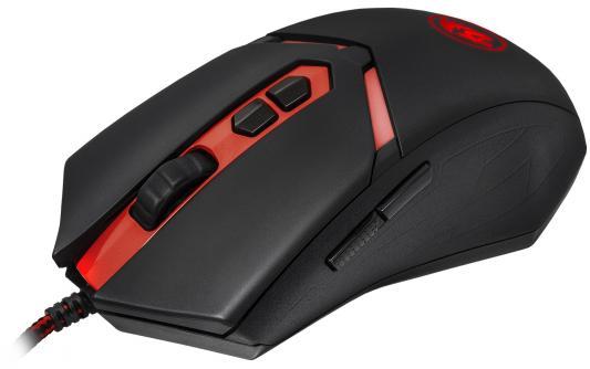 Мышь проводная DEFENDER Redragon Nemeanlion чёрный красный USB 70437 мышь проводная defender redragon titanoboa чёрный красный usb 70243