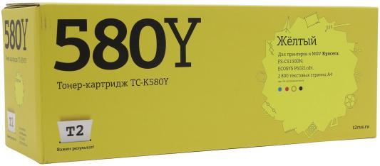 Картридж T2 TC-K580Y для Kyocera FS-C5150DN/ECOSYS P6021cdn желтый 2800стр kyocera ecosys p6021cdn