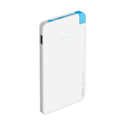 Внешний аккумулятор Deppa NRG Slim 5000 mAh 2A microUSB Apple 8-pin белый 33508