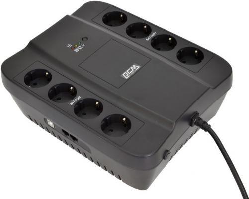 Источник бесперебойного питания Powercom SPD-650E 650VA Черный источник бесперебойного питания powercom spider spd 850e 510вт 850ва черный