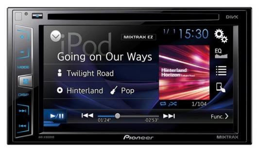 "Автомагнитола Pioneer AVH-X1800DVD 6.2"" USB MP3 CD DVD FM 2DIN 4x50Вт черный"