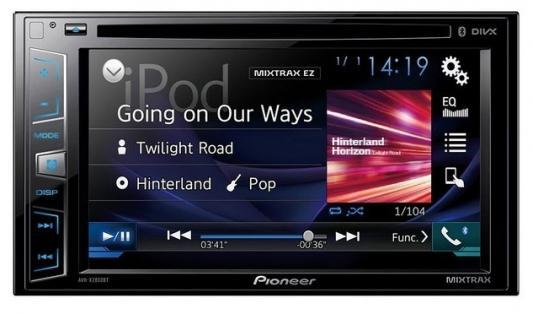 """Автомагнитола Pioneer AVH-X2800BT 6.2"""" 800x480 USB MP3 CD DVD FM RDS 2DIN 4x50Вт черный"""