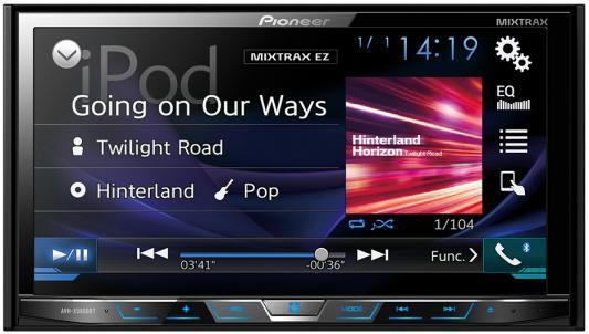 """Автомагнитола Pioneer AVH-X5800BT 7"""" 800x480 USB MP3 CD DVD FM RDS 2DIN 4x50Вт черный"""