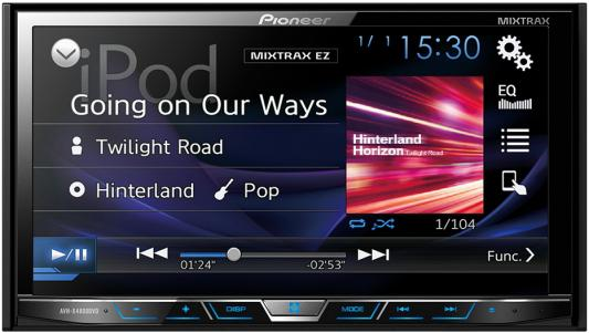 """Автомагнитола Pioneer AVH-X4800DVD 7"""" USB MP3 CD DVD FM RDS 2DIN 4x50Вт пульт ДУ черный"""